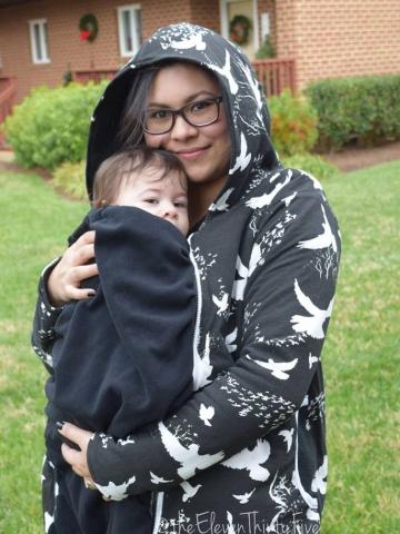 Bunny Hug (Zippity hoodie baby wearing panel)